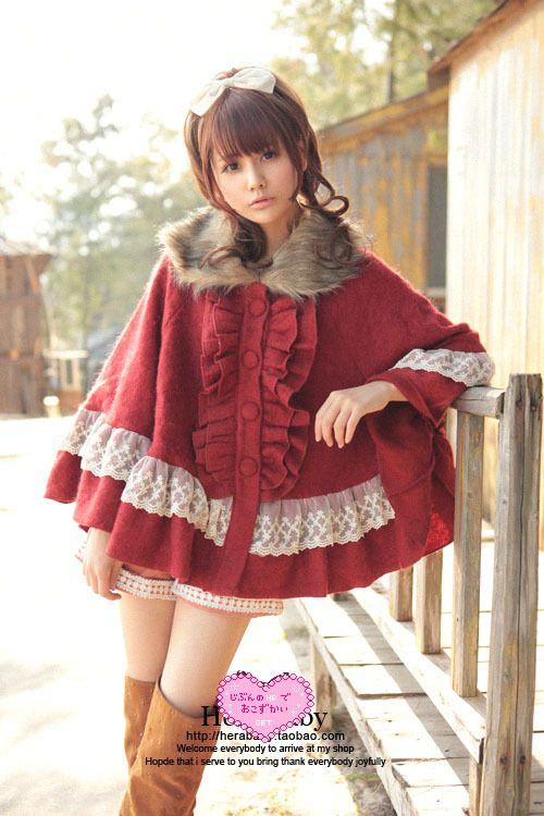 Sweet Lolita clothing Princess Royal hera purplish red black pink christmas lace…