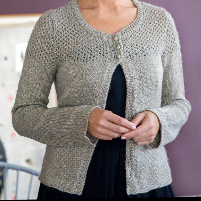 Tricoter un gilet court à manches longues pour femme. MCI 20160130.Tuto ( patron en pdf)