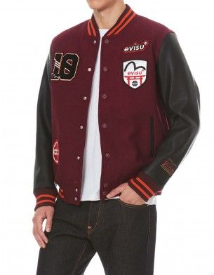 a24084c9e1d Multi Badges Color-blocking Baseball Jacket
