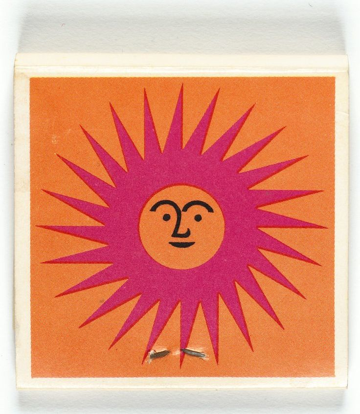 Matchbook by Alexander Girard for La Fonda del Sol Restaurant, 1960.
