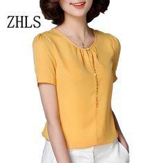 Blusas Femininas 2016 Verão Mulheres Blusa Tops Marca S-3XL New Plus Size Casual Chiffon Blusas Senhora Elegante escritório Camisas 64141