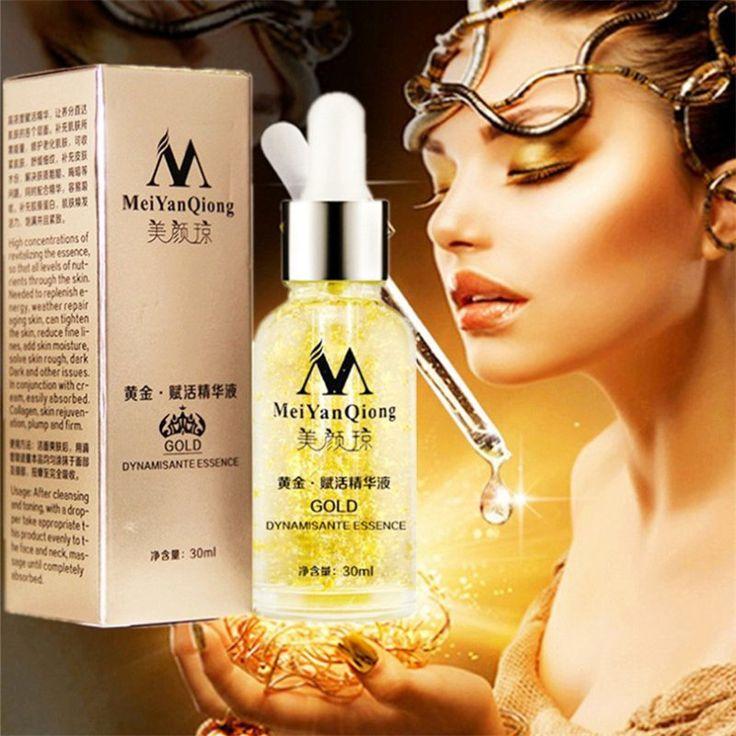 Cura della pelle Oro Puro 24 K Giorno Essenza Crema Anti Rughe Cura del Viso Anti Invecchiamento Collagene Sbiancamento Idratante Acido Ialuronico
