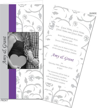 Truly personalise your wedding day with this photo wedding invitation. To order or view the collection go to: www.allyourinvites.com.au