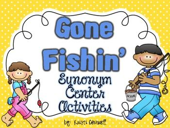 This file contains 3 games to help your students with synonyms.  There is a Go Fishin' game, Synonym Dominoes, and Synonym Memory Match.I hope you enjoy this FREE item!
