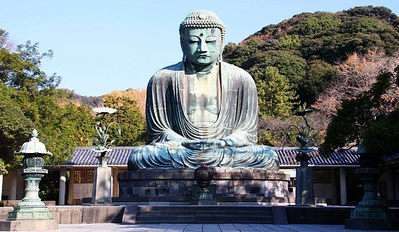 """The """"Big Budda"""" in Kamakura.  Visited here a few times while I lived in Japan."""