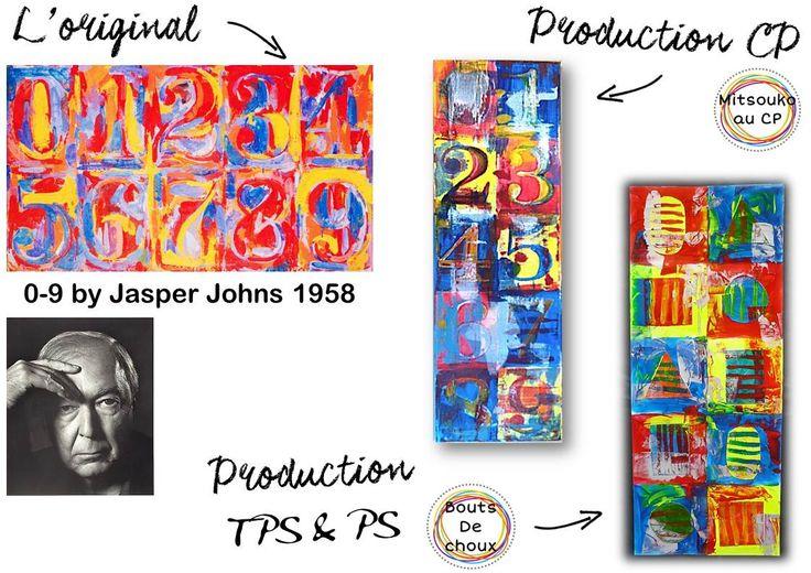 """Atelier maternelle """"à la manière de"""" Jasper Johns"""