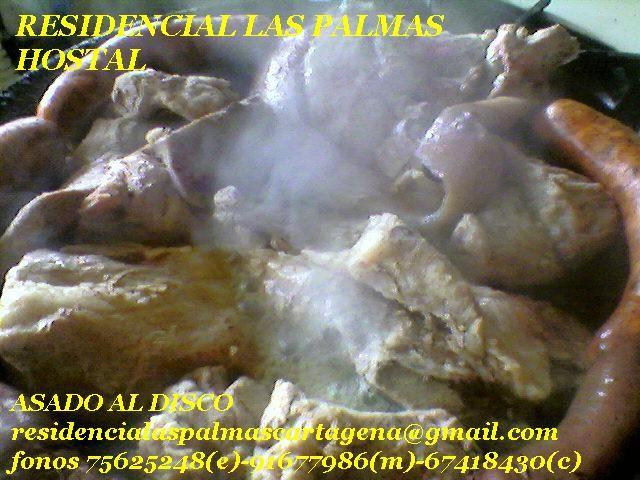 Discada de Variadas Carnes y Maricos,cocinada por los Dueños  y compartida con Nuestros Clientes