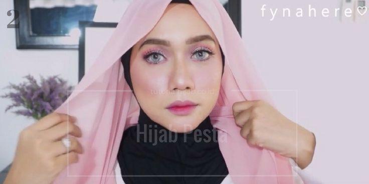 Tutorial Praktis Hijab Segi Empat untuk Pesta - Tutorial Hijab