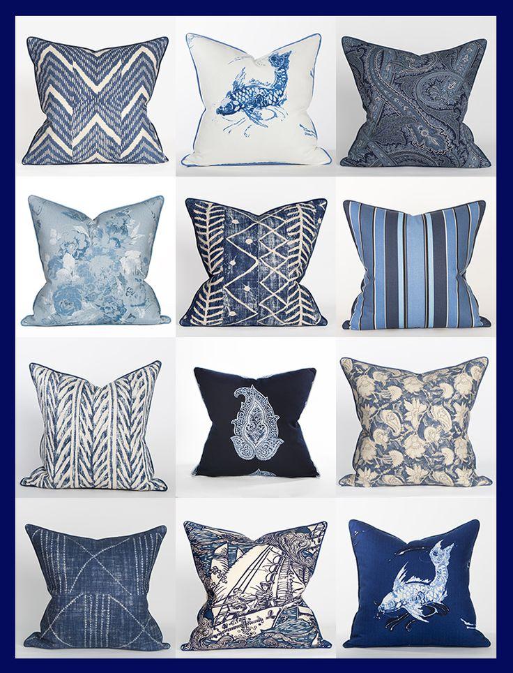 Ralph Lauren Blue & White Fabrics @ Coastal Home Pillows