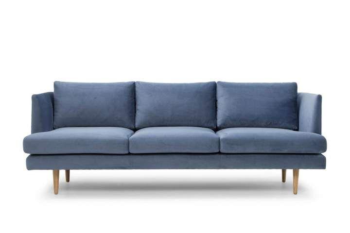 Contemporary Blue Fabric Sofa Blue Fabric Sofa Modern Sofa Sectional Fabric Sofa