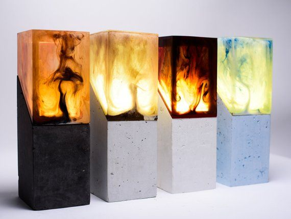 Resin Night Light Resin Table Decor Unique Night Lamp Diy Resin