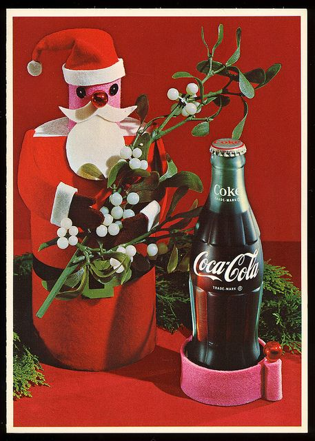 Coca-Cola Bottling Company Christmas card, early 1960s