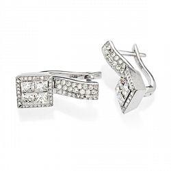 Купить серьги из белого золота с бриллиантами ➤ http://zolotoy-standart.com.ua/catalog/sergi/sergi-iz-belogo-zolota-s-brilliantami-e-246x/
