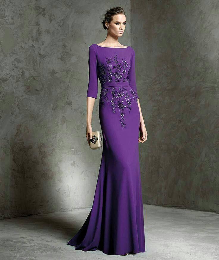 Vestido de georgette y pedreria de fiesta | Moda para ocasiones ...