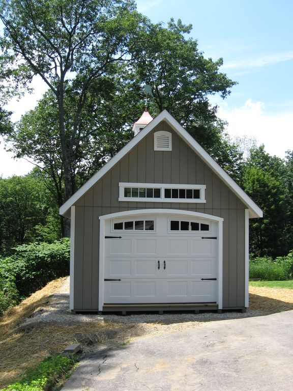Detached garage garage and garage doors on pinterest for Single garage with carport