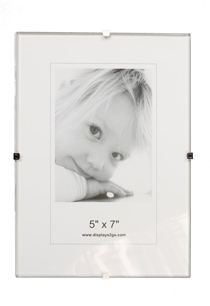 5 x 7 Frameless Picture Frame for Table or Wall, with Side Clips - Clear Glass - $1.29 each