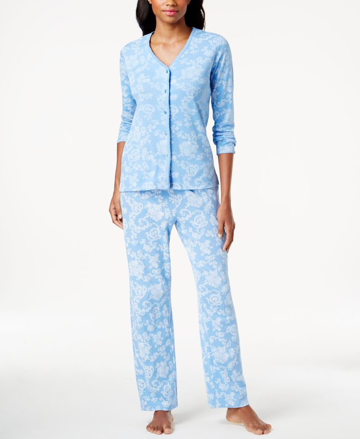 Charter Club Petite Printed Pajama Set, Only at Macy's