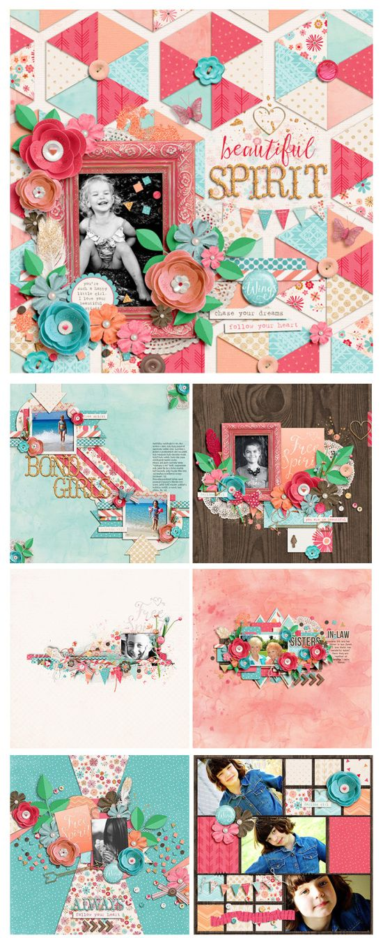 #papercrafting #scrapbook #layout - Free Spirit – NEW from Zoe Pearn