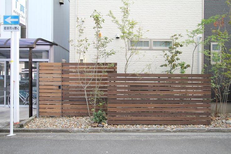 ウッドフェンス、木製門扉