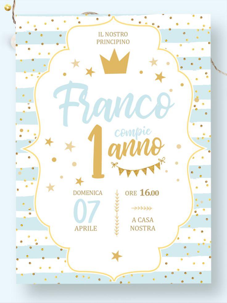 Invito digitale compleanno principessa primo compleanno