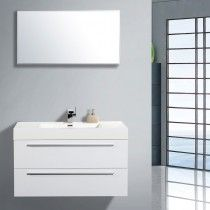 KINO Wall Hung Vanity 100cm - Basin Design-3