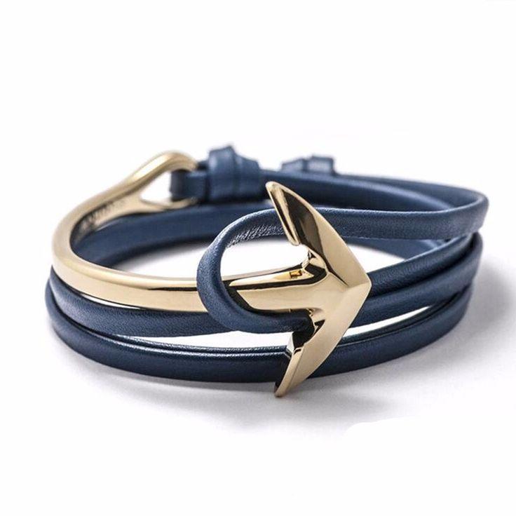 bracelet ancre cuir  #braceletfantaisie #bracelettendance #cadeaubraceletfemme