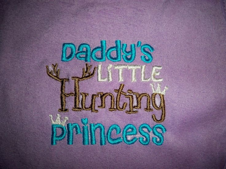 Purple Baby Girl Daddy's Little Hunting by grinsandgigglesbaby1, $7.50