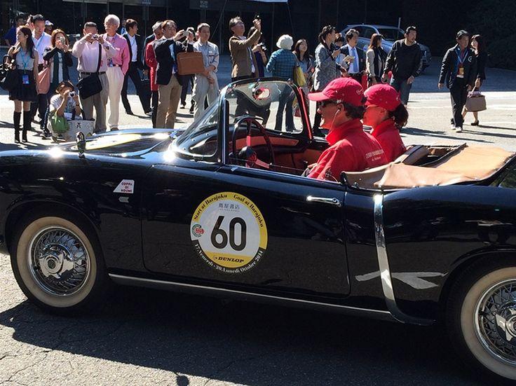 Cuervo y Sobrinos team @  La Festa Mille Miglia 2014 Japan. Giordano Mozzi and Stefania Biacca, 1956 Fiat 1200TV.