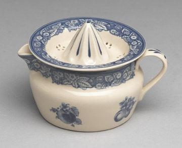 Blue White Transferware Juicer Reamer Toile Victorian Style Porcelain Zoo   eBay