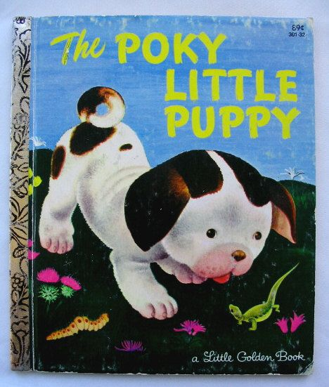 Poky Little Puppy Vintage Little Golden Book  by by TheVintageRead, $5.25