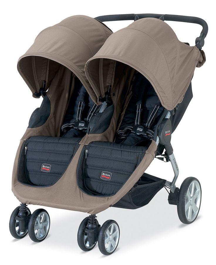 Britax B-Agile Double Stroller, Sandstone