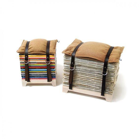 Vous ne voulez pas jeter vos vieux magazines ? Comme on vous comprend ! Mais pourquoi ne pas les transformer en tabouret ?