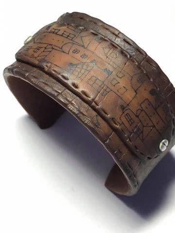 Braccialetto del cuoio del faux in argilla polimerica