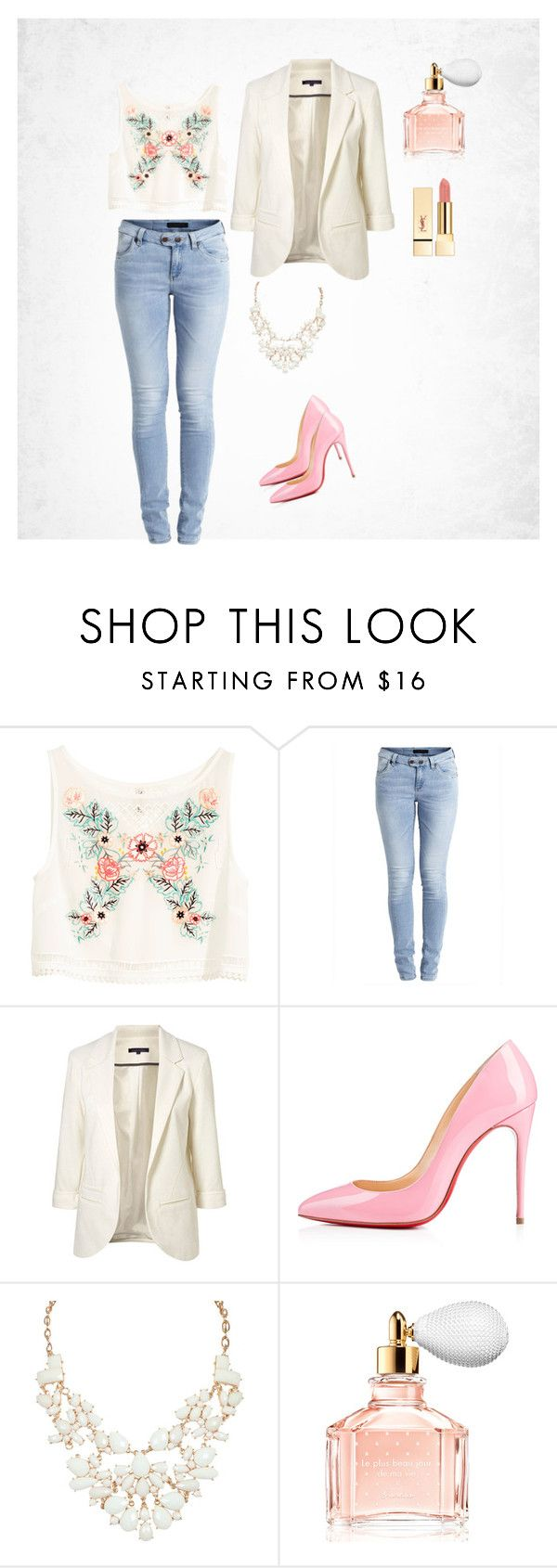 """Spring"" by amra-f ❤ liked on Polyvore featuring H&M, Object Collectors Item, Guerlain, Pink and Flowers"