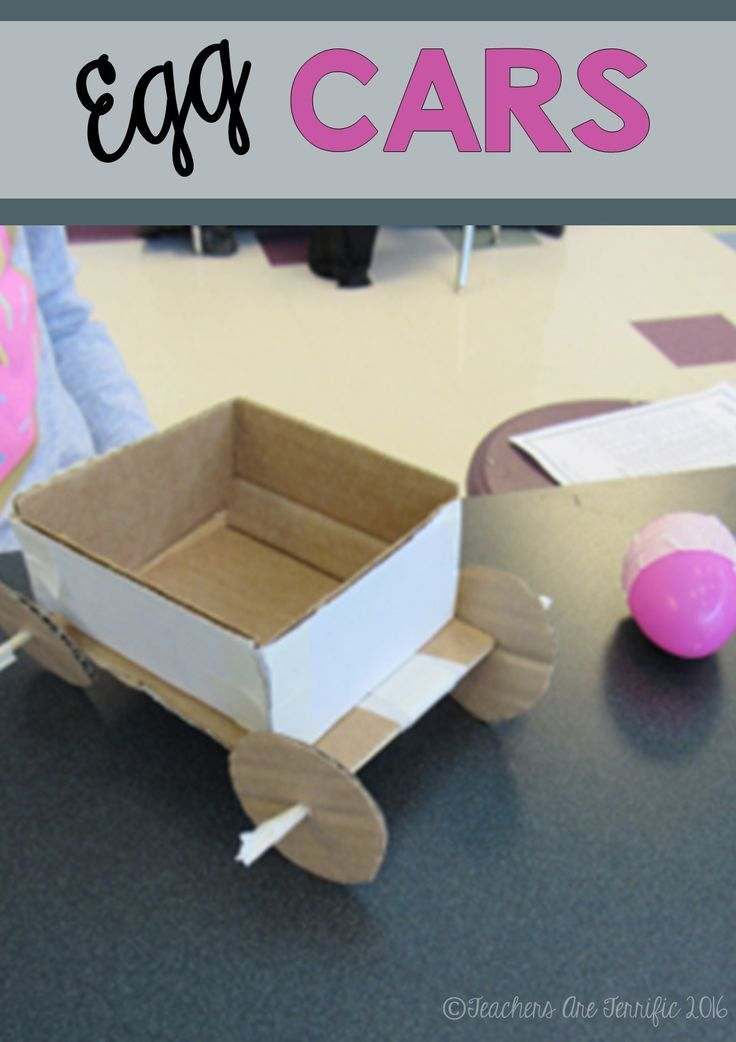 STEM Challenge: Investigate Newton's Laws of Motion with this fabulous challenge. Kids build a car that must hold and egg and travel down a ramp! Will the egg survive? Which law of motion is proven?