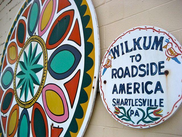 Wilkum to Roadside America Shartlesville PA by Mod Betty / RetroRoadmap.com, via Flickr