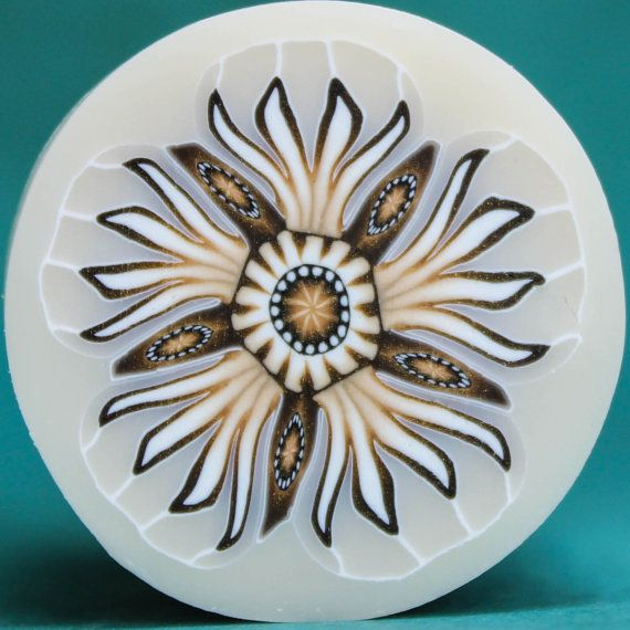 large translucent and white polymer clay flower cane 47c polymer clay pinterest fimo. Black Bedroom Furniture Sets. Home Design Ideas