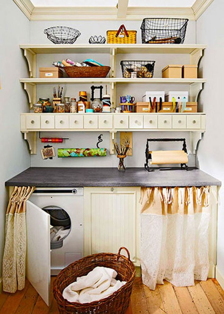 104 best laundry room storage images on pinterest classy clothes mudroom and laundry closet - Kitchen storage solutions for small spaces concept ...