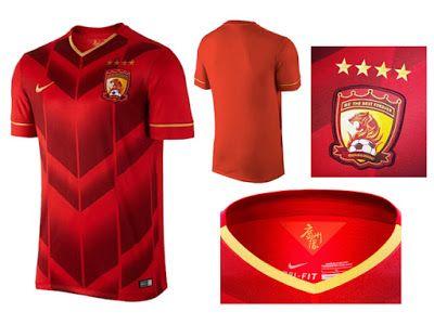 Nuevas Nike Camiseta Guangzhou Evergrande del Mundial de Clubes Japón FIFA 2015