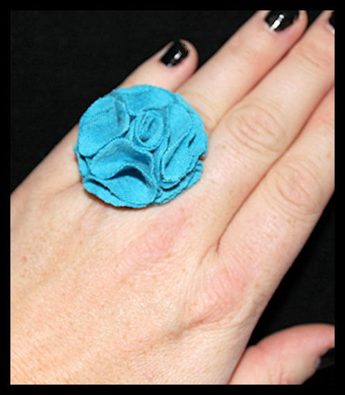 Sweet Ring in Turquoise by NakedPoppy on Etsy, $5.24