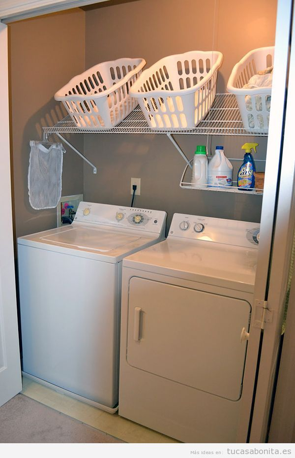 ideas para decorar y organizar lavaderos pequeños 5