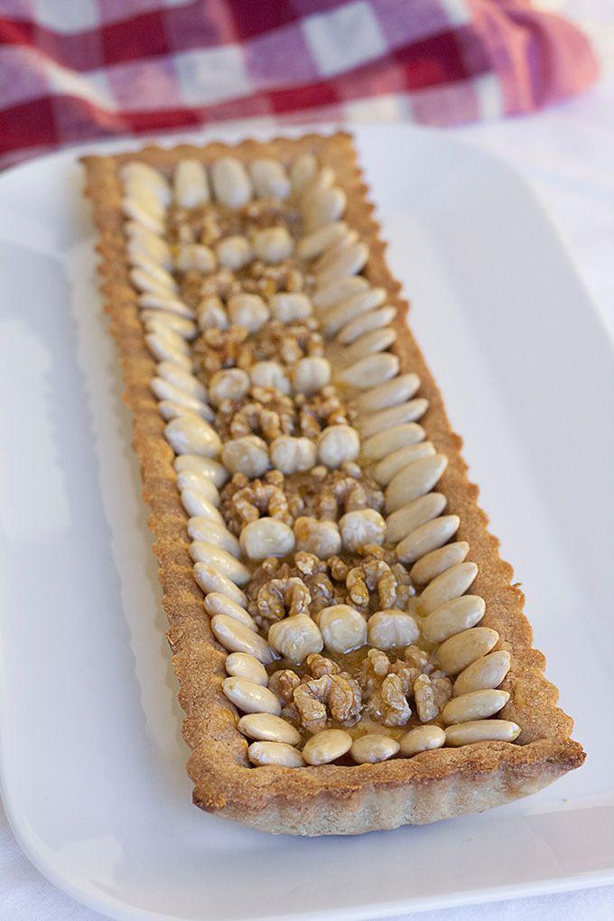 Italienisch Kochen   Dinkel-Tarte mit Mandeln und Honig und der toskanische Dinkel aus der Garfagnana. #italienischkochen
