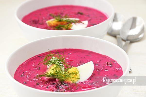 Chłodnik Litewski, chłodnik, letnia zupa. botwinka, http://najsmaczniejsze.pl #food #soup