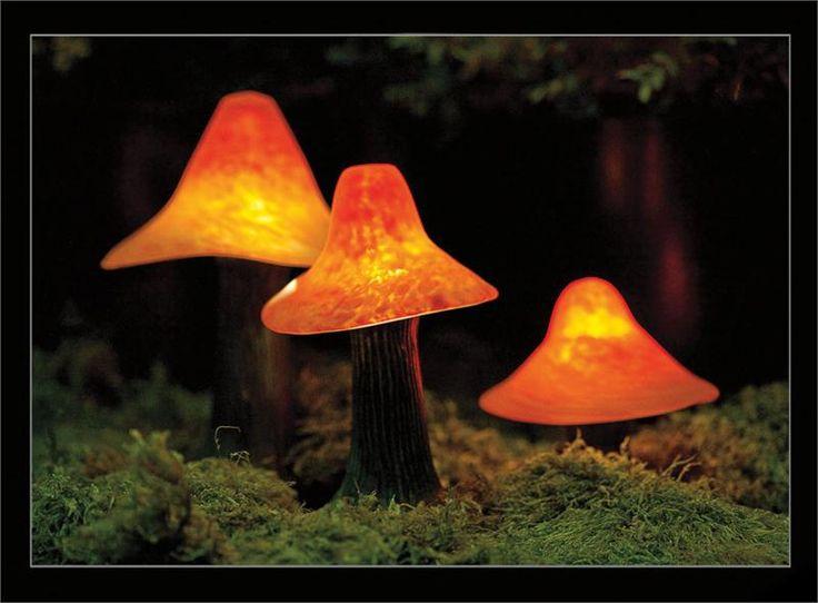 Sculpted Mushroom Lights From Stone Manor Lighting