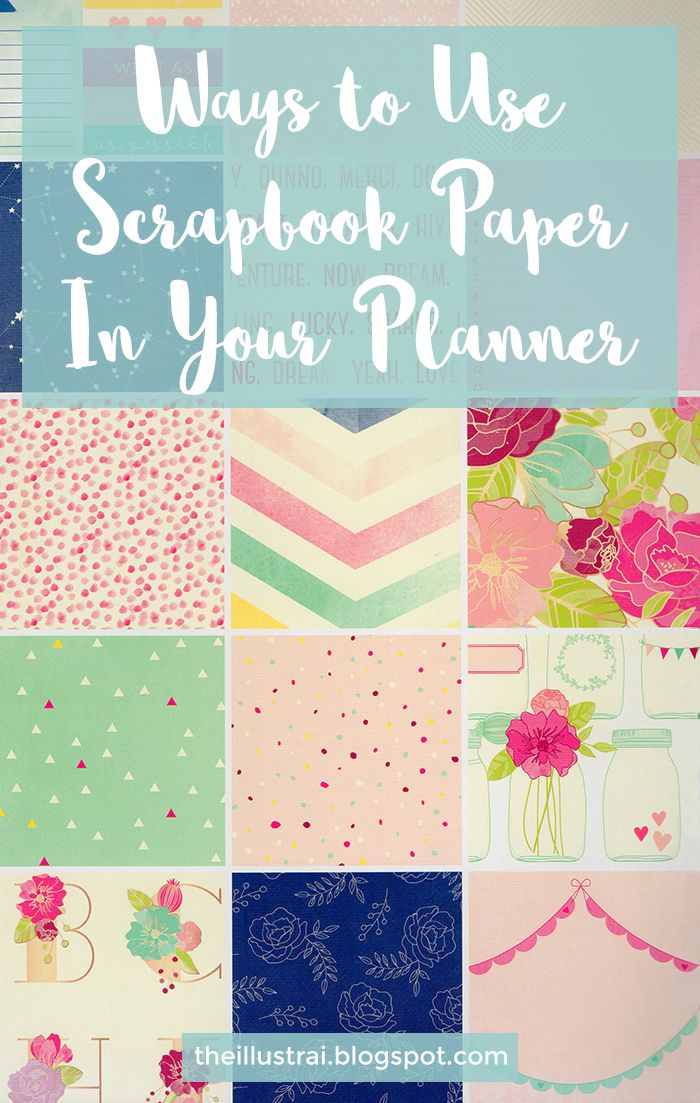 Ways to Use Scrapbook Paper in Your Planner