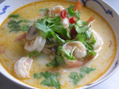 Thai Coconut and Shrimp Soup (Tom Kha)