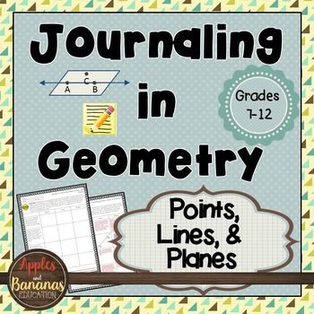 Journaling in Geometry: Points, Lines, and Planes