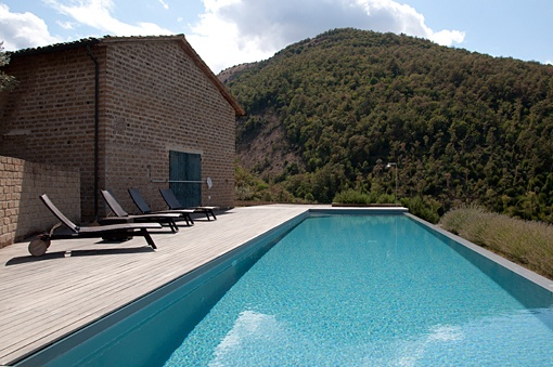Lap pool at Villa Oliva