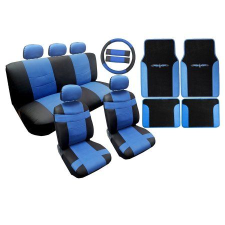 Two Tone Premium Synthetic PU Faux Leath Tribal Floor Mats 18pc For Toyota Prius