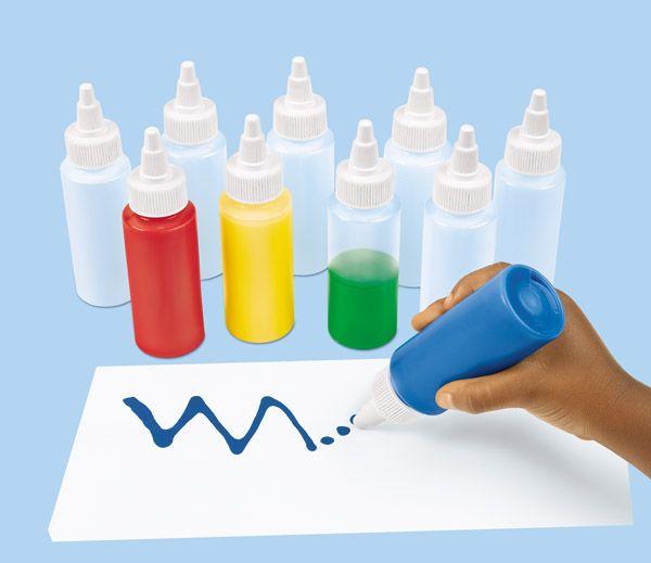 Buteleczka do wyciskania 305-6785 Do grafomotorycznego malowania nadają się doskonale. Do tego, gdy włożymy do nich gęstszą farbę, mogą nawet imitować malowanie lukrem liczmanów a la pierniczki ;)  http://www.sklep.educarium.pl/educarium.php?section=1&kategoria=22&subkategoria=1962&produkt=21208